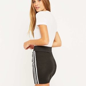 adidas Skirts - Adidas Mini Skirt (THREE LINES) Black/White
